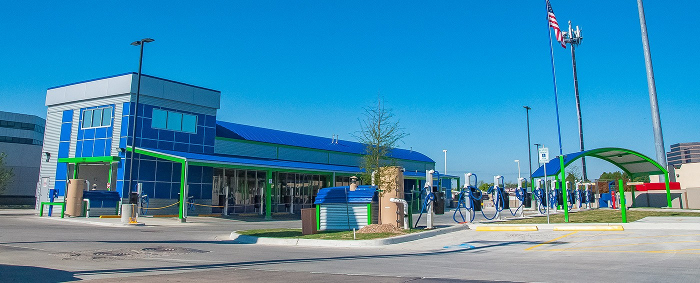Clear blue express tulsas favorite car wash our facility allows quick access into and out of the wash to accommodate your busy day solutioingenieria Image collections